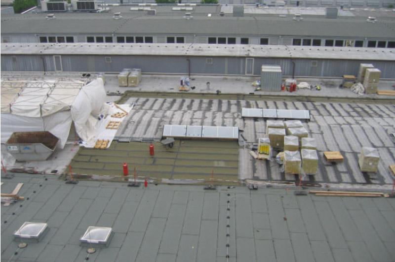 Flachdachsanierung Baustellenorganisation