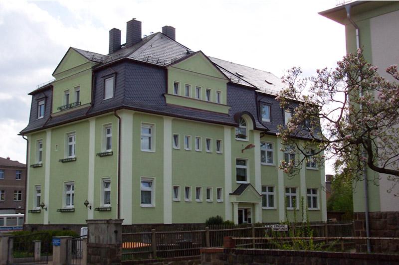 Naturschiefer Bogenschnitt, Raiffeisenbank Burgstädt