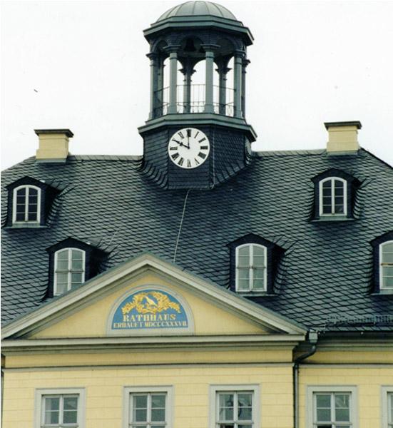 Naturschiefer Rathaus Hainichen
